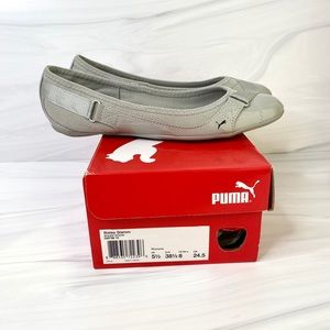 Puma Shoes - Puma Bixley Glamm Light Gray Ballet Flats Size 8